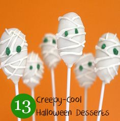 Halloween Sweets for Kids - Mummy Cake Pops