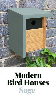 Wood Bird Feeder, Bird House Feeder, Bird Feeders, Wooden Bird Houses, Bird Houses Diy, Birdhouse Designs, Birdhouse Ideas, Cool Things To Build, Modern Birdhouses