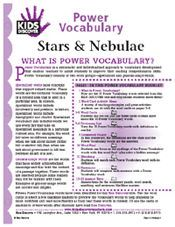 FREE 16-page downloadable Vocabulary Packet for Kids Discover Stars & Nebulae!