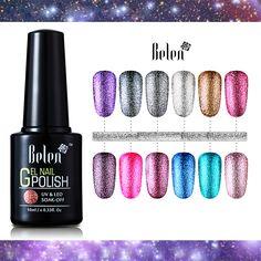 Belen 10ML Bling Glitter Nail Art Platinum Gel Nail Polish UV Gel Nail Polish Varnish Long Lasting Semi Permanent Gel-Lacquer  Price: 1.70 USD