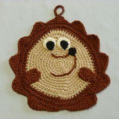 #Crochet hedgehog potholder free pattern from Crochet Spot