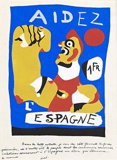 Aidez L'Espagne [Help Spain], Joan Miró    Help Spain