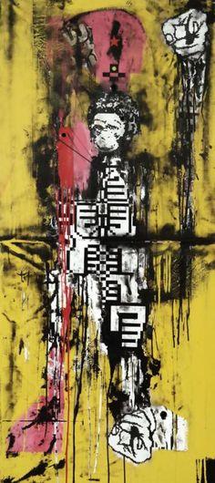 "Saatchi Art Artist Zsolt Gyarmati; Painting, ""Patterncrisis"" #art"