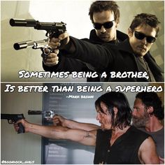 Boondock saints the walking dead Norman Reedus Sean Patrick Flanery Connor macmanus Murphy macmanus Daryl Dixon Rick grimes