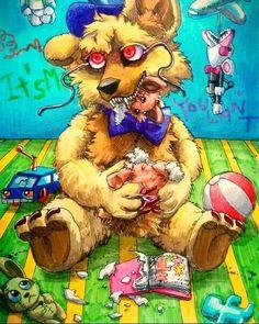 I'm not a bad bear 🌼 // Art by Mizuki-T-A Fnaf Golden Freddy, Fnaf Freddy, Creepy Monster, Pokemon, Fnaf Sister Location, Fnaf Characters, Fnaf Drawings, Anime Fnaf, Anime Furry