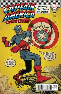 Capa Revista em Quadrinhos Marvel - Captain America Living Legend - 21cm x 29,7 cm 4/18/2016 ®....#{T.R.L.}