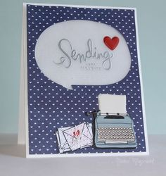 July 2014 Awesome creation by Nichol Magouirk using the July 2014 card kit by Simon Says Stamp.  June 2014