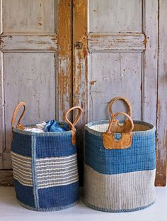 I love baskets. these would be perfect in a beach house.