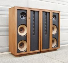 BOZAK SYMPHONY B4000 Speakers from 1969 - Alnico B199A 16-Ohm Woofers,B200Y Tweeters, & B800A Mids