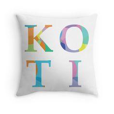 Koti - multicolor - Throw Pillow Cover - http://annumar.com/en/designs/koti-multicolor-throw-pillow-cover