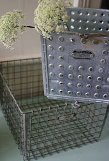 metal gym baskets ~ I have these all over my house to hold all sorts of things. LOVE