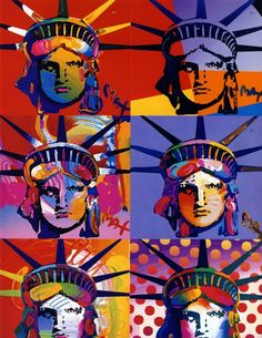 Peter Max Statue of Liberty - fell in love with Peter Max's work while I was on the cruise. Went to many art auctions and learnt about some of his work.