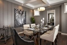 Calgary SAM Awards Finalist 2014 - Brighton Showhome - Vesta Collection at Coopers Crossing in Airdrie Alberta Dining Room, Dining Table, Awards, Brighton, Calgary, Furniture, Collection, Urban, Design