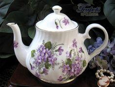 Heirloom Violets Bone China Teapot