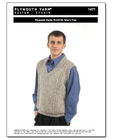 Plymouth Earth: Ranch: Man's Vest Pattern [pat-ply-1471] - It's Free! : DBNY - The Best Deals On The Best Yarn., The best deals on the best yarn. Period.