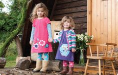 Organic Girls Clothes- Kids girl cord dress £32