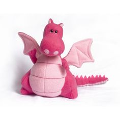 The Pink Yoki the Fat Dragon Kit is a Plush Animal Sewing Pattern & Fabric Kit from DIY Fluffies.