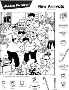숨은그림찾기 New Arrivals : 네이버 블로그 Coloring Pages For Kids, Coloring Sheets, Coloring Books, Hidden Pictures Printables, Find The Hidden Objects, Hidden Picture Puzzles, Picture Composition, Kids English, Activity Sheets