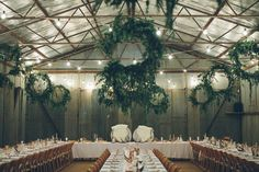 Nick and Shelley transformed an old tobacco shed into a wreath-strewn party shed. Safe to say their wedding DIY skills were on game. Shed Wedding, Wedding Set Up, Wedding Guest Book, Farm Wedding, Diy Wedding, Wedding Ideas, Sister Wedding, Rustic Wedding, Wedding Reception Flowers