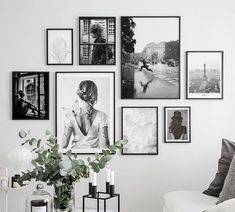 Gallery Wall Bedroom, Gallery Wall Layout, Bedroom Wall, Bedroom Decor, Home Living Room, Living Room Decor, Picture Wall Living Room, Apartment Walls, Photo Wall Decor