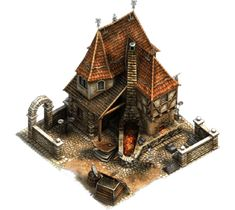 Medieval Redsmith/Copper Smelter