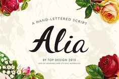 Alia - Hand lettered font - by TOPdesign on @creativemarket