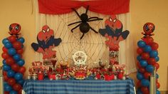 Mesa de dulces Spiderman