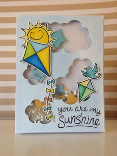 Lawn Fawn - Sunny Skies + coordinating dies _ Awesome shaker card design by Fiona via Flickr - Photo Sharing! {pin of the day}