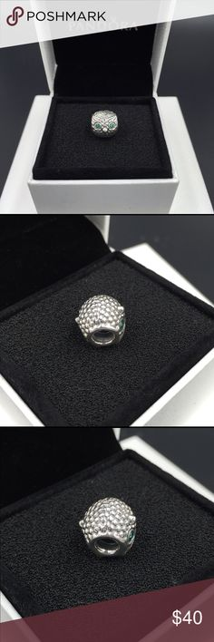 """Pandora Charm NWOT Pandora """"Wise Owl"""" charm. Sterling silver with dark green cubic zirconia. Properly hallmarked S925 ALE. Pandora box not available. No trades. Please make offer via the offer button. Thanks and happy Poshing!! Pandora Jewelry Bracelets"""