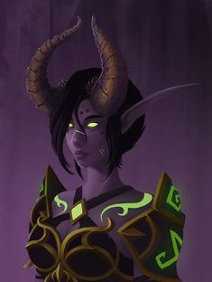 ArtStation - WoW Demon hunter, Fer Zabudowski