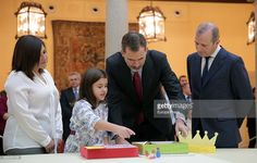 King Felipe VI of Spain (2R) receives 'Que Es Un Rey Para Ti' (What is a King for you) competition winners at El Pardo Palace  on December 12, 2016 in Madrid, Spain.  (Photo by Europa Press/Europa Press via Getty Images)