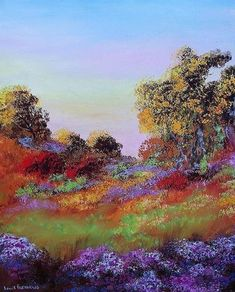 (31) LinkedIn South African Art, Colorful Trees, Painting Videos, The Originals, Nature, Flowers, Landscapes, Paisajes, Naturaleza