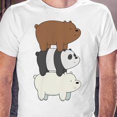 We Bare Bear t shirt tshirt with bearl print gift for menwhite mens t-shirt Gift man Christmas gift (25.00 USD) by desiqus