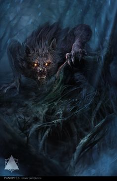 Teen Werewolf – concept art by Marina Krivenko for the collectible card game Panoptes