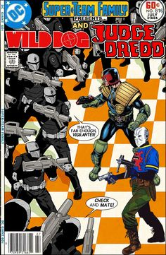Super-Team Family: The Lost Issues!: Wild Dog and Judge Dredd