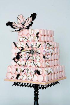 Let them eat Cake! Macaron wedding cake