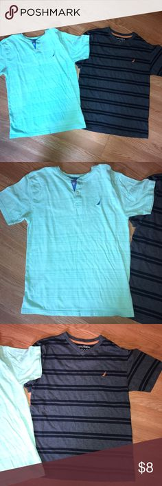 Nautica Boy's T-Shirts Large Good condition. Both size Large 14/16 Nautica Shirts & Tops Tees - Short Sleeve