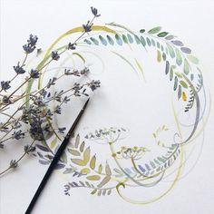 """Как рисовать листья и травы виртуозно, мастерски? Один-два мазка - и готово! Данный мастер-класс научит вас """"плести"""" венки и рисовать растения красиво."""