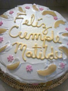 torta melocoton cliente feliz