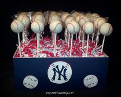 Gallery | Cake Bites & Pops. cute cake pop site- very cute instead of a 'groom's cake'-especially if your husband is a sports fan. =)