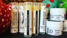 Moisturizing, Protecting and Delish! Beeswax Lip Balm, Baking Ingredients, Bath Bombs, Cookie Dough, The Balm, Delish, Vanilla, Mint, Rustic