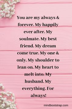 birthday quotes for husband ~ birthday quotes ; birthday quotes for best friend ; birthday quotes for him ; birthday quotes for me ; birthday quotes for daughter ; birthday quotes for husband Valentines Day Sayings, Valentine Quotes For Husband, Romantic Quotes For Husband, Anniversary Quotes For Husband, Most Romantic Quotes, Love Notes For Husband, Inspirational Quotes For Husband, Future Husband Quotes, Happy Birthday Hubby Quotes