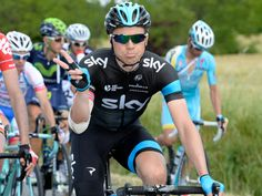 GIRO D'ITALIA STAGE NINE GALLERY Edvald Boasson Hagen gave the peace sign as he rolled past