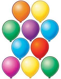 Imagen de globos para recortar-Imagenes y dibujos para imprimir