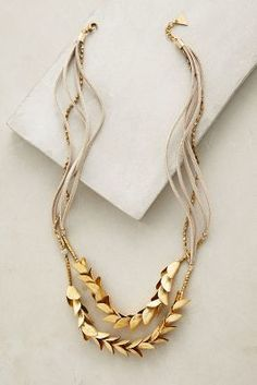 Love this gold Olea Necklace