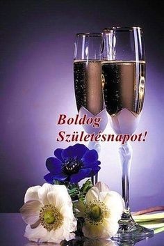 Wine Glass, Champagne, Happy Birthday, Tableware, Fun, Basil, Happy Brithday, Dinnerware, Urari La Multi Ani