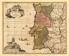 Portugalliae et Algarbiae Regna, Per Nicolaum Vißcher. Cum Privilegio Ordinum Hollandiae er West-Frisiae.