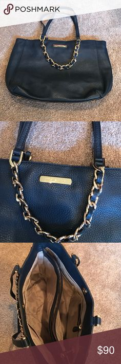 Purse MK navy purse.  Smaller. Gold feet and hardware.  Previously bought on Posh.  Too small for me   Beautiful clean purse. Michael Kors Bags Shoulder Bags