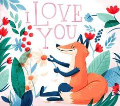 I Love You (fox -illustration)