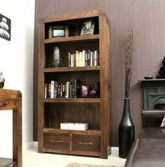 Shiro Walnut Large 2 Drawer Bookcase http://solidwoodfurniture.co/product-details-pine-furnitures-3036-shiro-walnut-large-drawer-bookcase.html